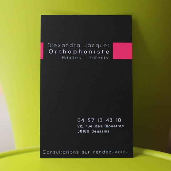 carte de visite orthophoniste